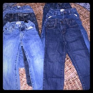Six Pairs of Children's Place Boy's Jeans